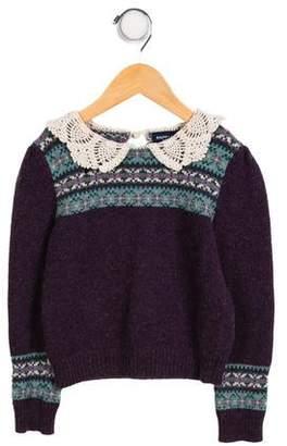 Ralph Lauren Girls' Patterned Knit Sweater