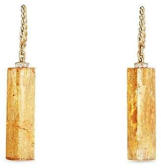 David Yurman Bijoux Fine Bead & Chain Earrings with Imperial Topaz