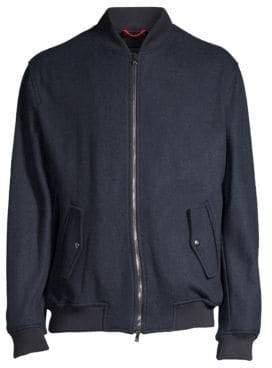 Isaia Cashmere Blend Bomber Jacket