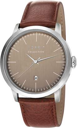 Esprit EL102131F02 - Men's Watch, Leather, Brown Tone