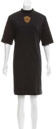 Dries Van Noten 2016 Quilted Appliqué Dress