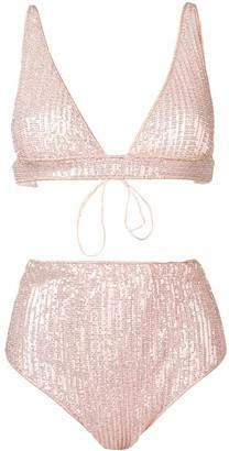 Oseree sequinned bikini