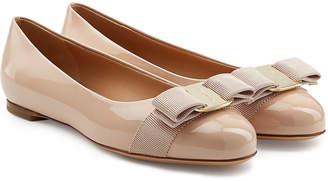 Salvatore Ferragamo Varina Patent Leather Ballet Flats
