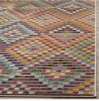 "Safavieh Monaco Multi and Beige 5'1"" x 7'7"" Area Rug"