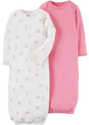 Carter's Child of Mine by Newborn Baby Girl 2 Pack Gown