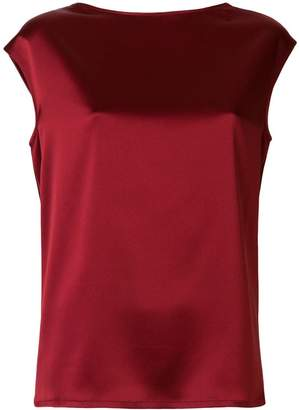 Gianluca Capannolo glossy sleeveless blouse