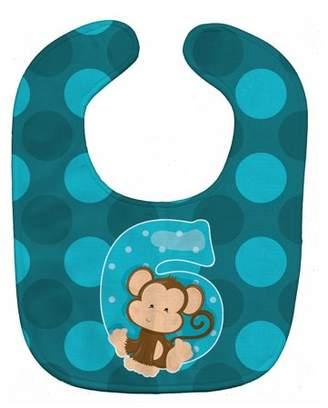 Caroline's Treasures Zoo Month 6 Monkey Baby Bib