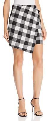 Milly Plaid Wrap Skirt