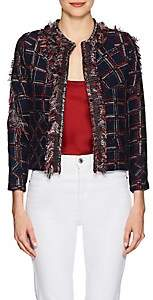 Cynthia Rowley WOMEN'S FRINGED TWEED JACKET SIZE L