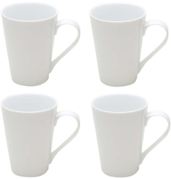 Tag Whiteware Tapered Coffee Mug (Set of 4)