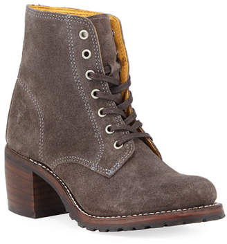 Frye Sabrina Distressed Suede Boots