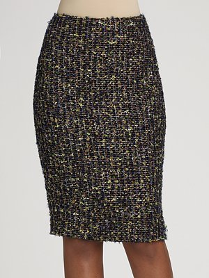 Ellen Tracy Confection Tweed Skirt