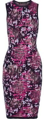 Versace Metallic Jacquard-Knit Dress