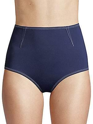 Jonathan Simkhai Women's Darted High-Waist Bikini Bottom