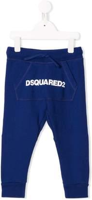DSQUARED2 logo kangaroo pocket track pants