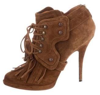 Givenchy Suede Embellished Platform Boots