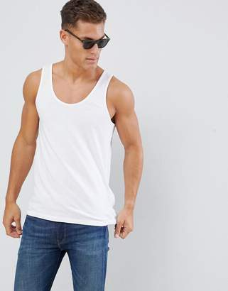 Asos Design DESIGN organic singlet in white