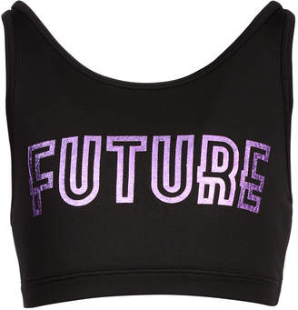 Ideology Big Girls Future-Print Sports Bra