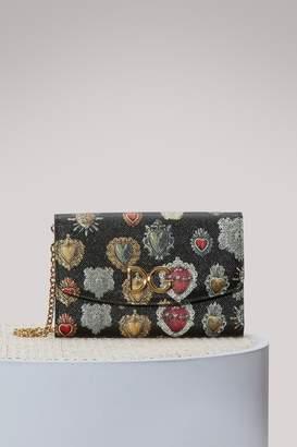 Dolce & Gabbana Hearts print chain wallet