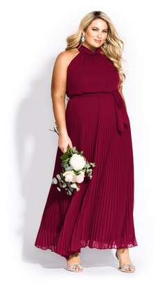 City Chic Citychic Honour Maxi Dress - garnet