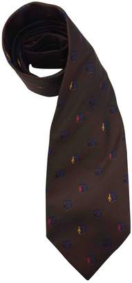 Moschino Vintage Brown Silk Ties