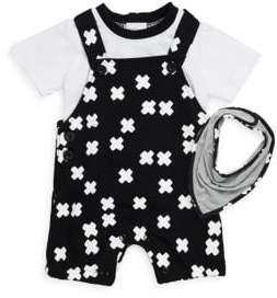 Baby Boy's Three-Piece Cotton Tee, Jumper and Bib Set