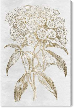 Oliver Gal Floral Sketch Gold Canvas Wall Art