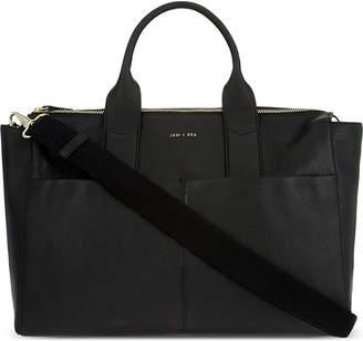 Bea Yuk Mui Jem + Jemima leather changing bag, Black