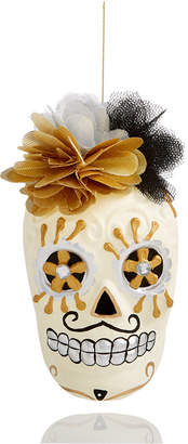 Holiday Lane Mrs. Skull Head with Flowers Ornament, Created for Macy's