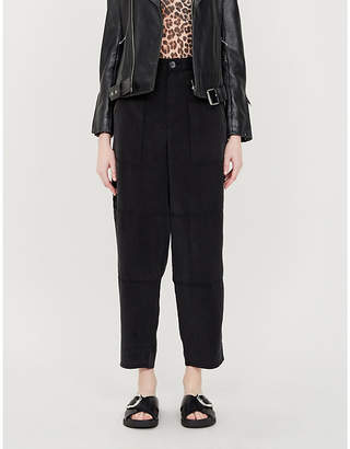 J Brand Noelle high-rise straight-leg lyocell trousers