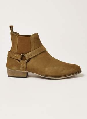Topman Tan Suede Mount Harness Boots