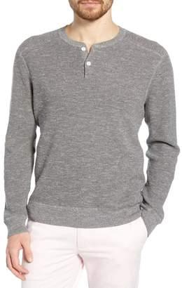 Bonobos Cotton & Linen Slim Fit Henley Sweater