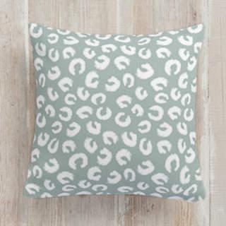Hoof Prints Square Pillow