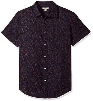 Calvin Klein Men's Long Sleeve Roll Tab Button Down Shirt Bandana Print