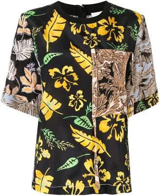 3.1 Phillip Lim contrast floral T-shirt