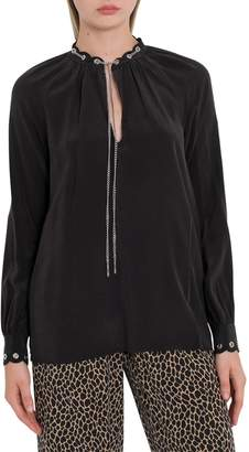 MICHAEL Michael Kors Chain Embellished Blouse