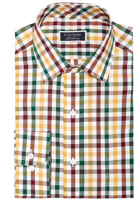 Club Room Men's Classic/Regular Fit Performance Multi Gingham Dress Shirt, Created for Macy's