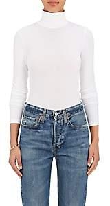 Wolford Women's Cotton-Blend Turtleneck Bodysuit - White