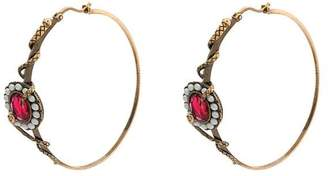 Alexander McQueen Snake and crystal-embellished earrings