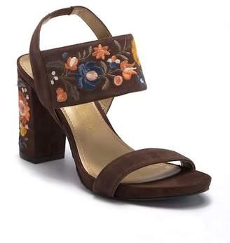 Anne Klein Orinda Suede Block Heel Sandal