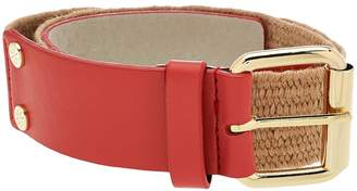 Isaac Mizrahi Live! Leather Stretch Waist Belt