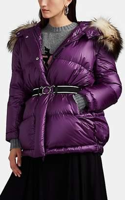 Prada Women's Fox-Fur-Trimmed Down Puffer Jacket - Purple