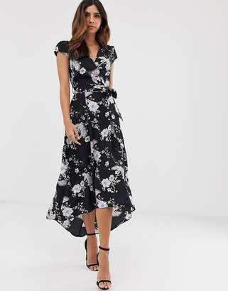 AX Paris floral print wrap midi dress
