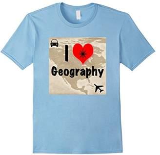 I Love Geography Heart Shirt T-Shirt