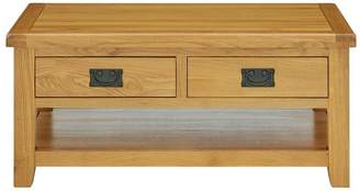 Luxe Collection - Oakland 100% Solid Wood 2 Drawer Ready Assembled Coffee Table
