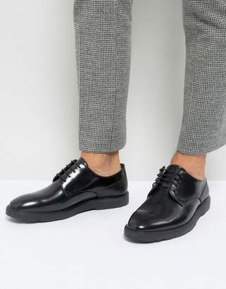 Silver Street High Shine Lace Up Shoes In Black