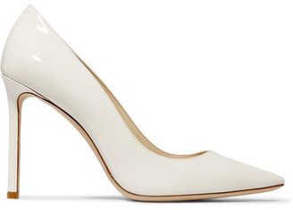 Romy Patent-leather Pumps - White