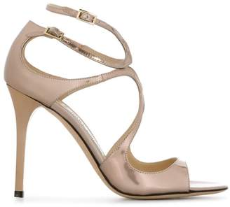 Jimmy Choo double ankle strap heeled sandals