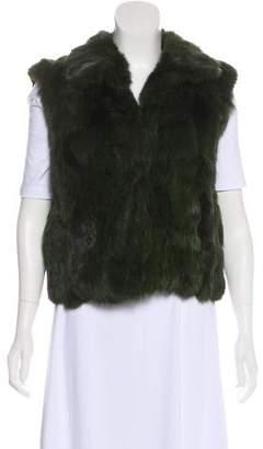 Adrienne Landau Fur Mock Neck Vest