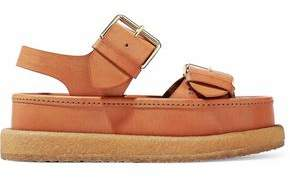 Stella McCartney Buckled Faux Leather Platform Sandals
